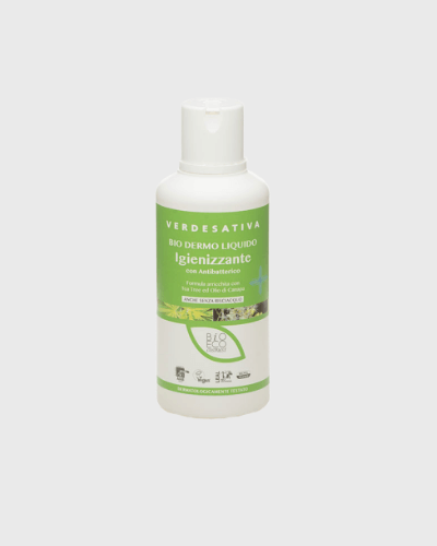 Biodermoliquido antibatterico, con tea tree & olio di canapa 500Ml