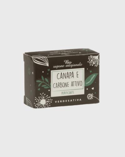 Sapone Canapa e Carbone Attivo 100% Bio Degradabile